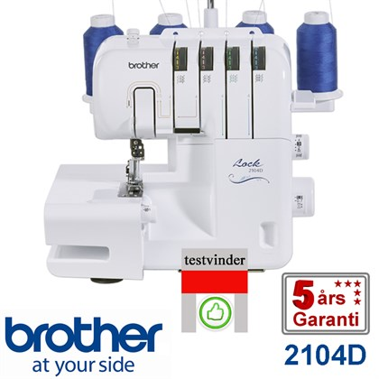 Brother 2104D 4 tråds overlock